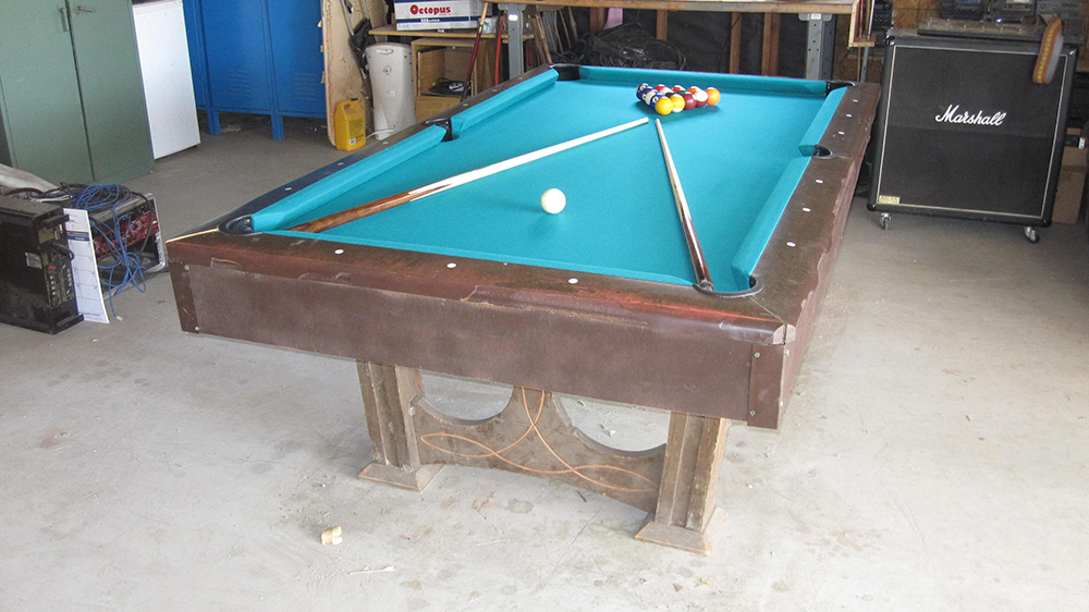 Before And After Ebonite Pool Table Dk Billiards