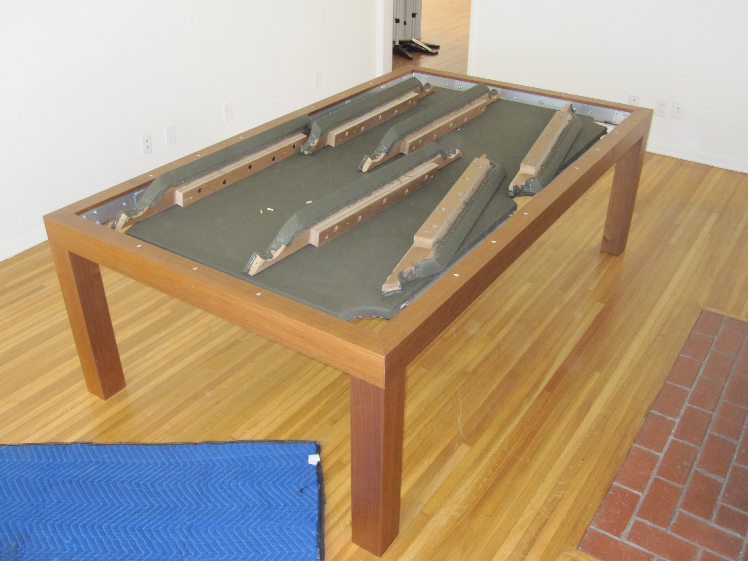 Here Is A Closer Look At The Intricacies Of Safely Moving An Aramith  U201cFusion Pool Tableu201d We Sold This Dining/pool Table To A Great Mind In Los  Angeles, ...