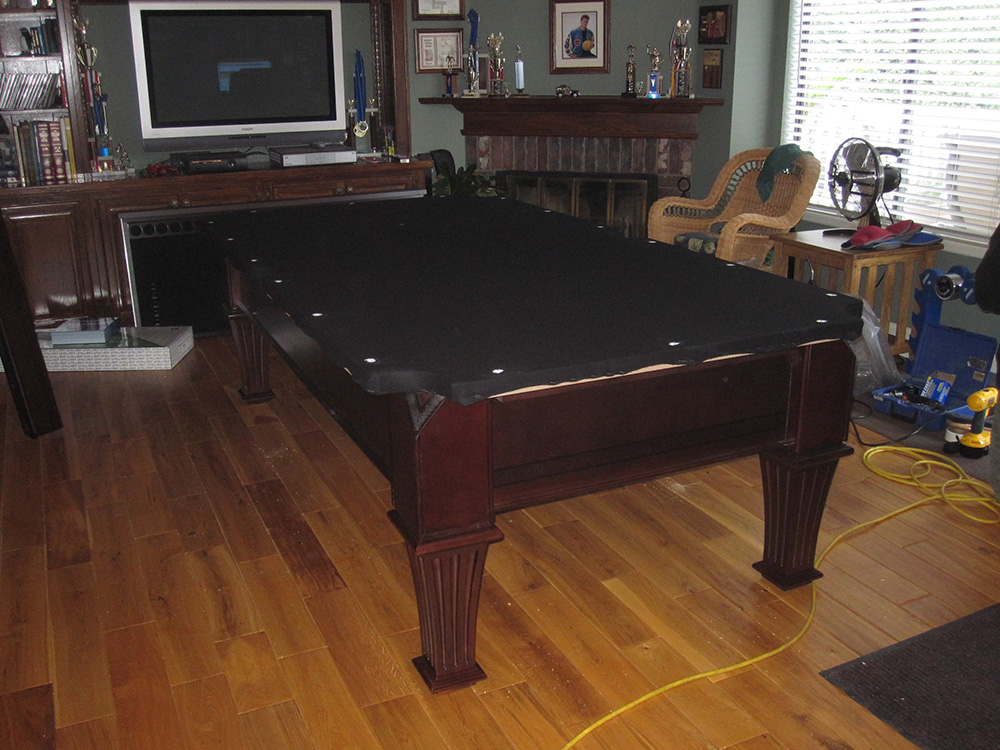 Fischer stratford pool table install dk billiards service orange county ca for Stratford swimming pool timetable