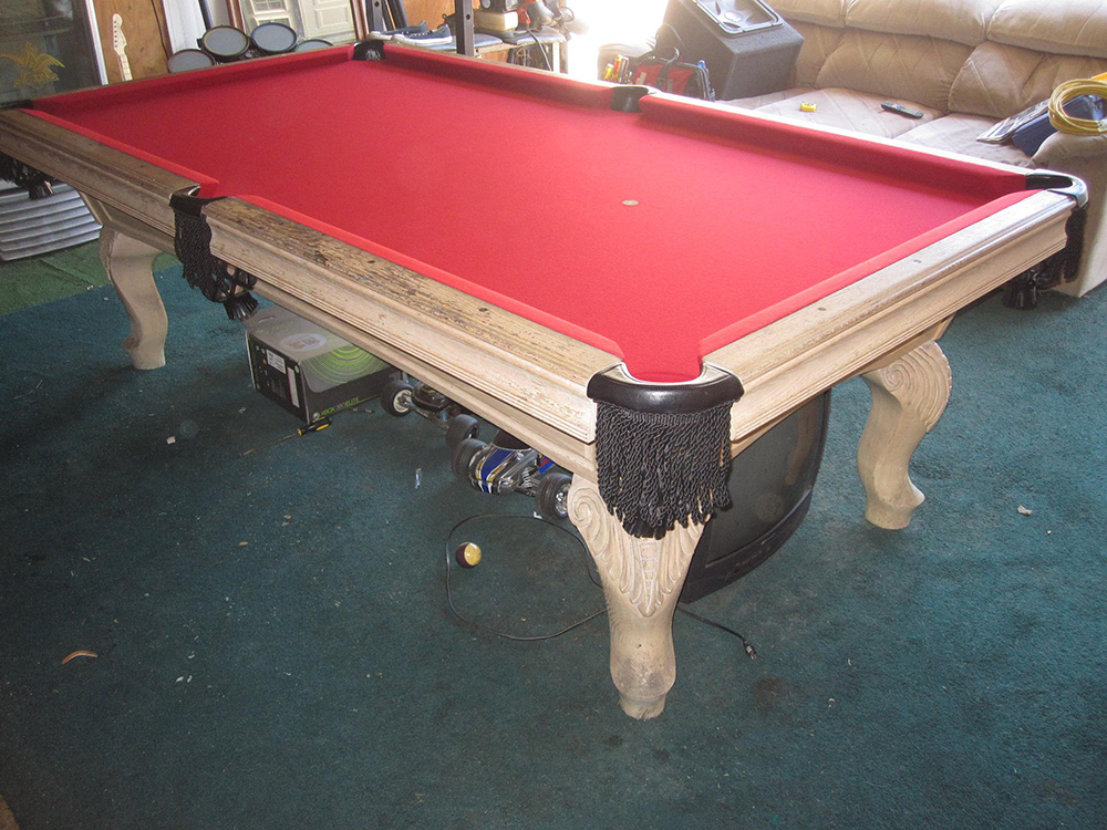 Dirty Old Pool Table Comes Clean Pool Table Service