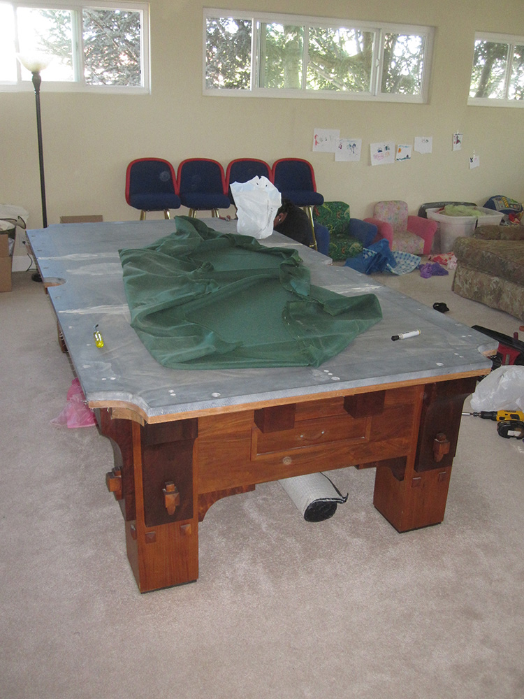 How To Get 1000 Lb Pool Table Downstairs Pool Table