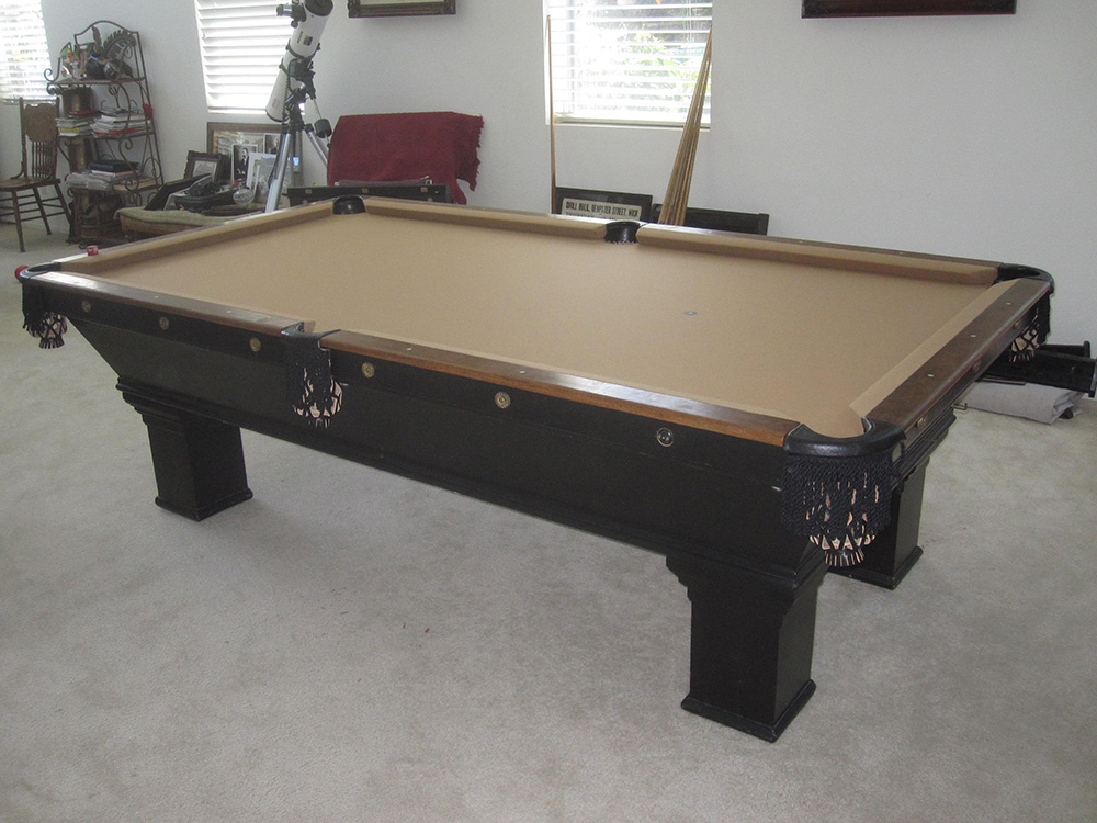 1900 39 s brunswick install pool table service billiard for Brunswick pool tables