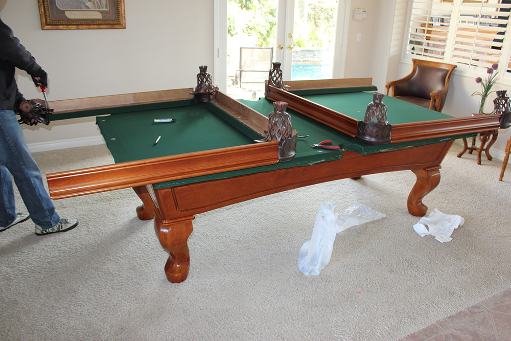 used pool table buyers beware of dead cushions pool table service billiard supply orange. Black Bedroom Furniture Sets. Home Design Ideas