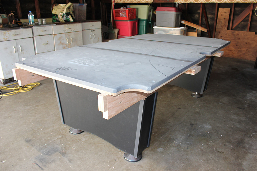 Man Cave With Pool : The beginings of a man cave pool table service billiard supply
