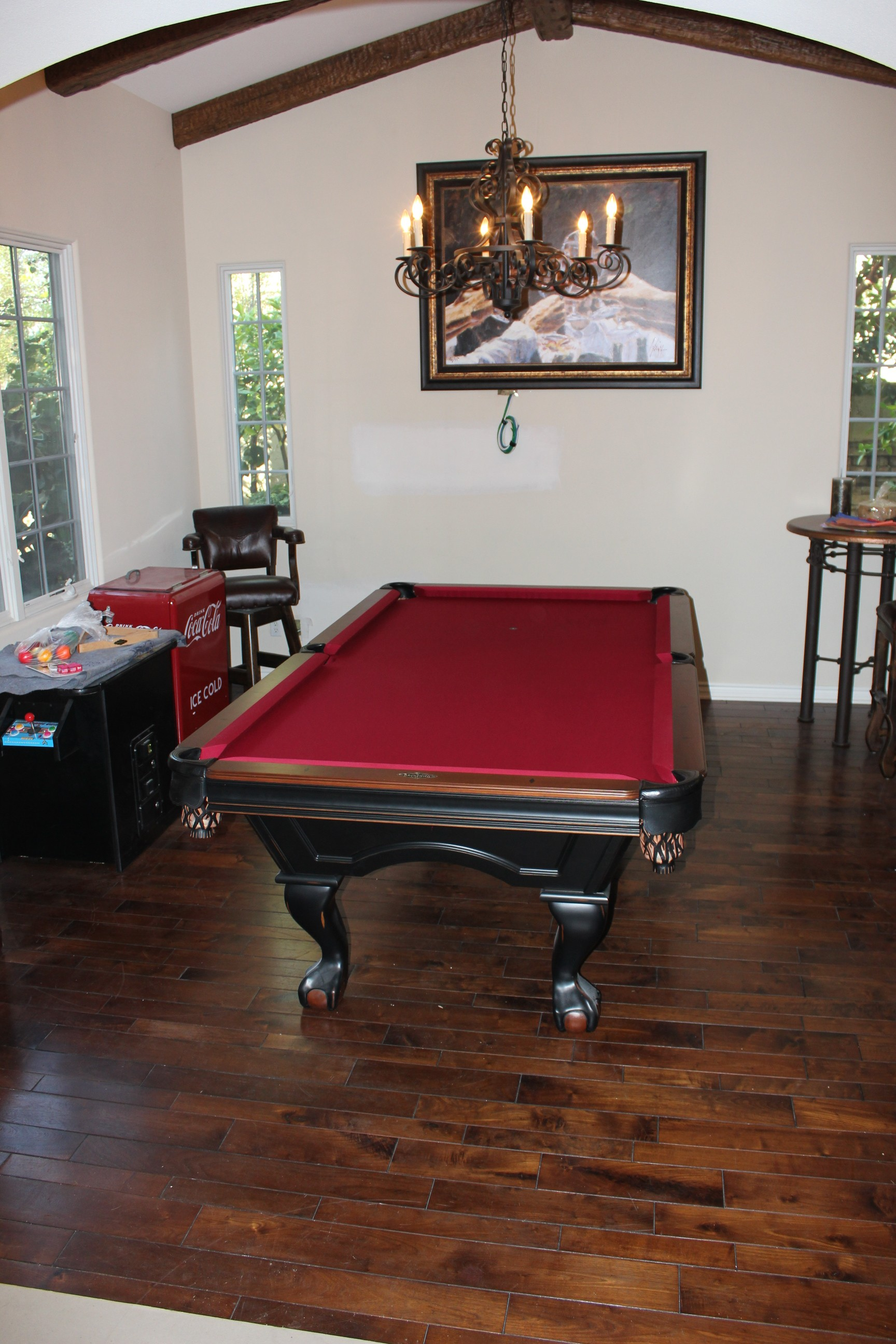 what size pool table