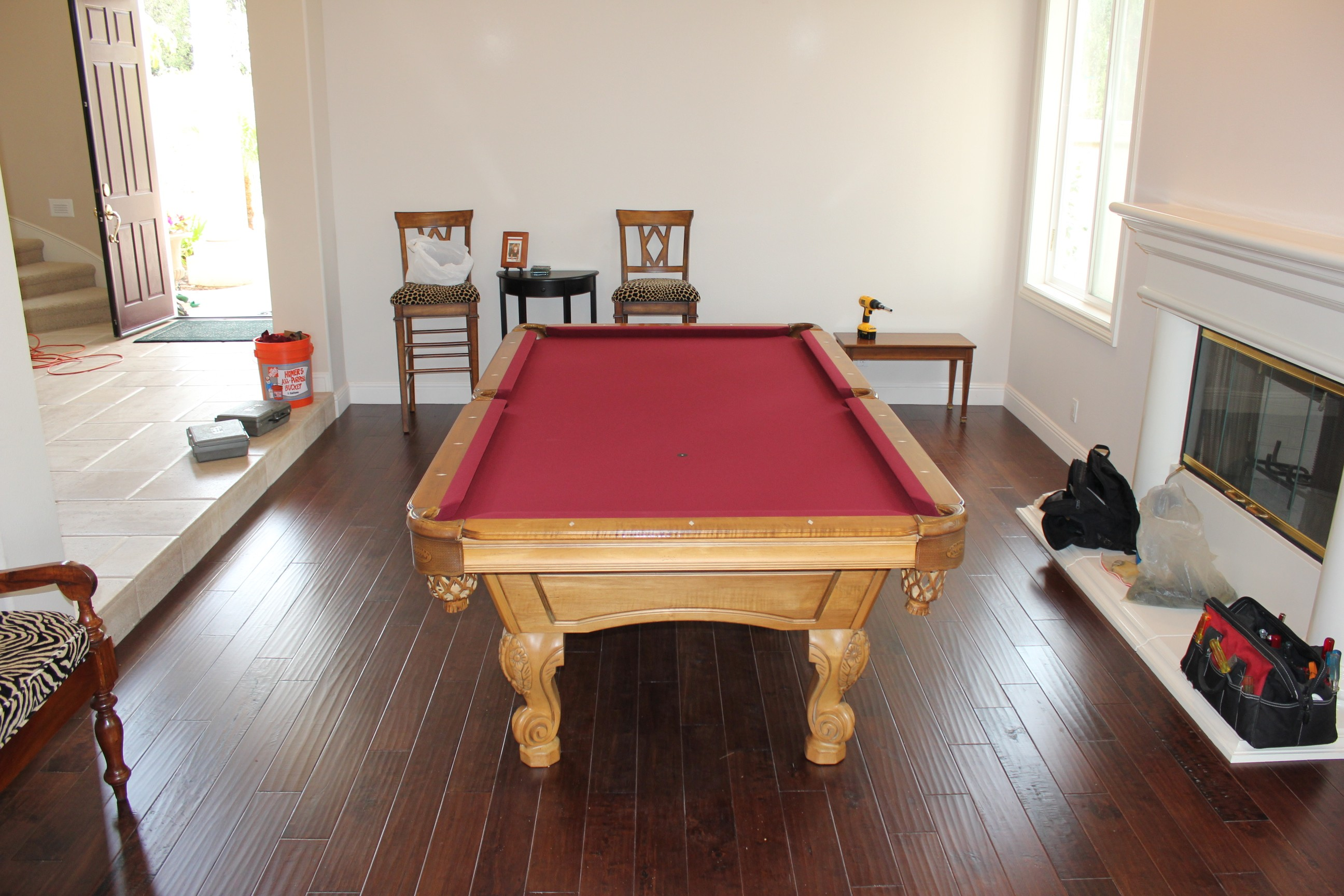 Pool Table In Formal Dining Room Dining Room Designs - Pool table movers orange county