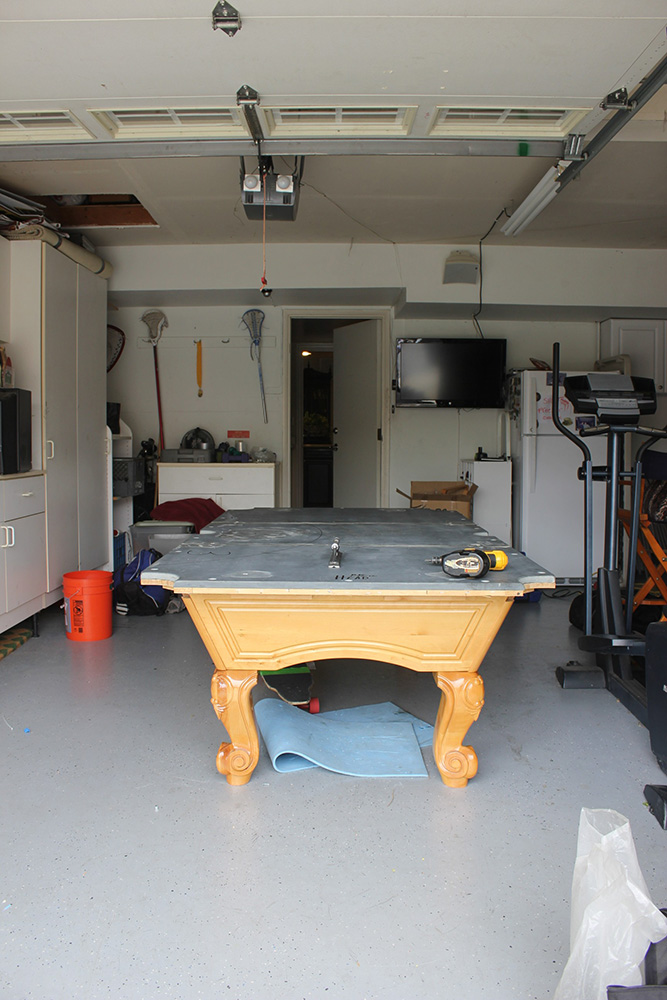 Small Man Cave With Pool Table Fullerton Service Billiard Supply