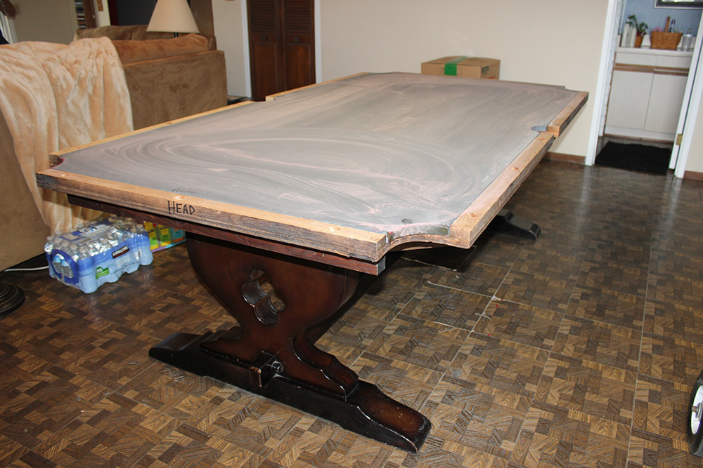 Looks can be deceiving is your table a one piece slate for 1 slate pool table
