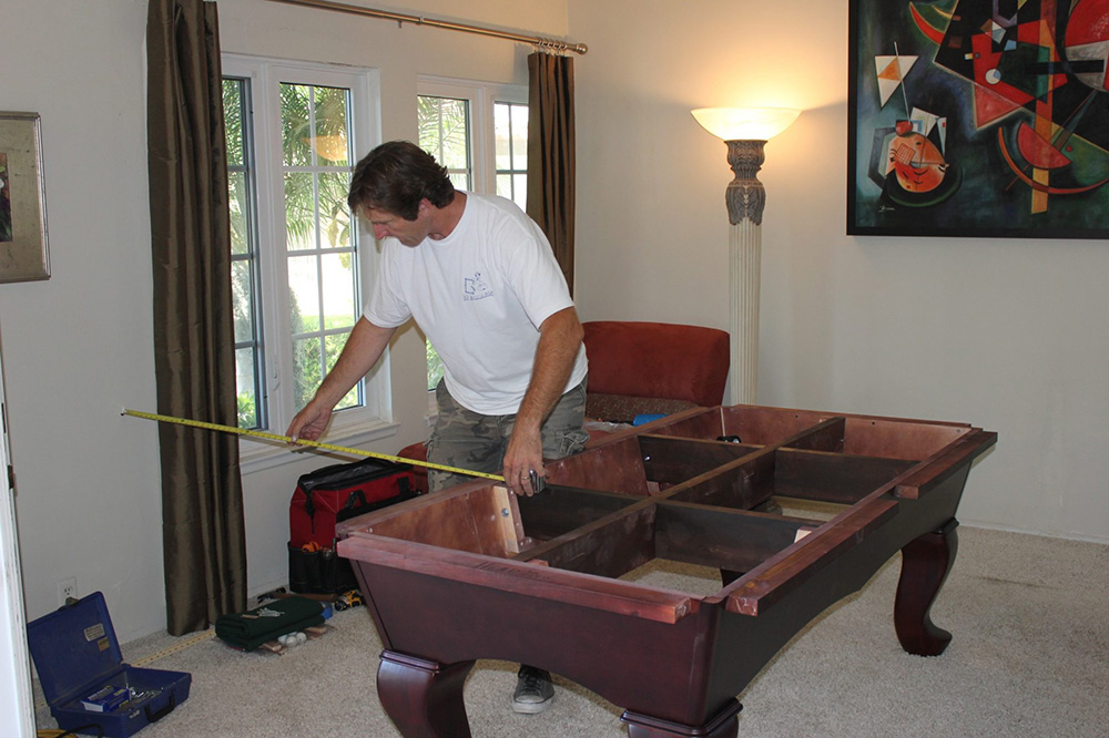Finding the perfect spot for your pool table is what we do best.