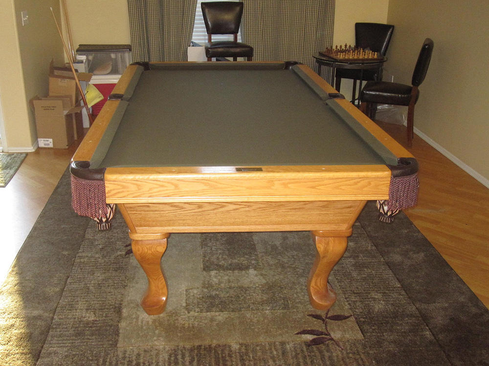 Assemble Pool Table