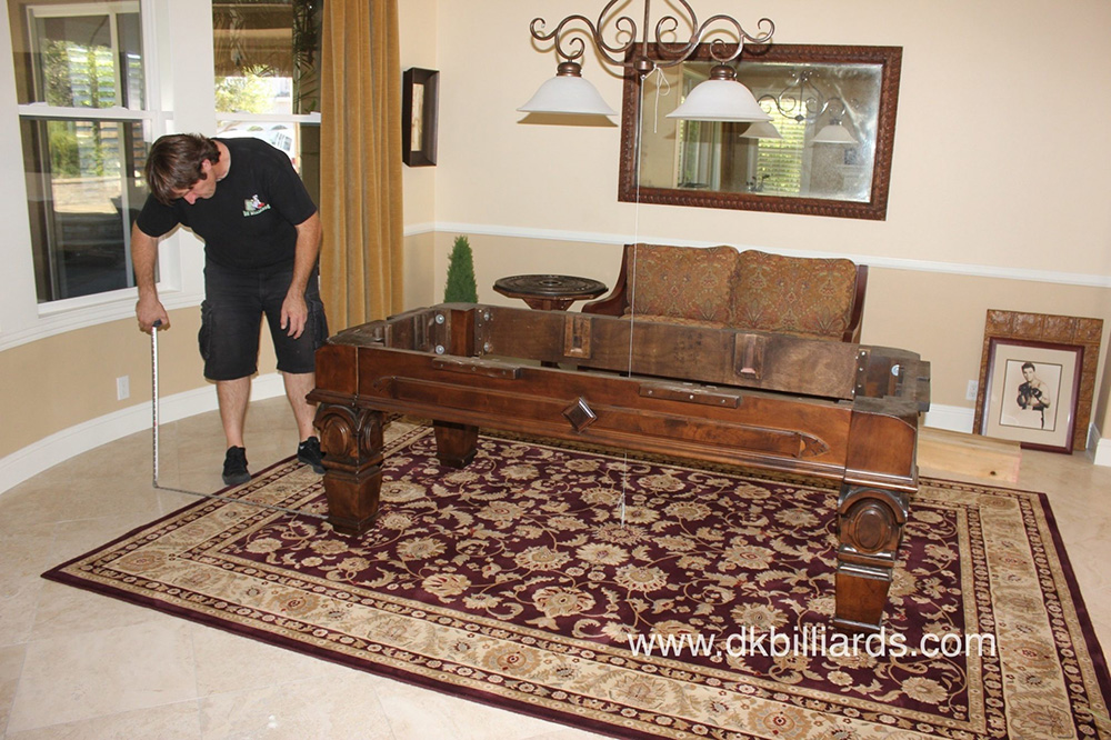 ... Pool Tables Can Be Placed On Top Of Rugs Even Rugs On Top Of Wall To ...
