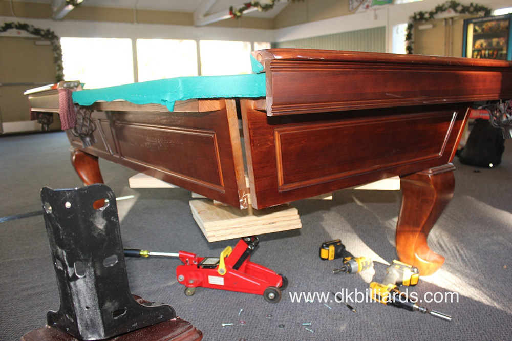how to move pool table - table designs