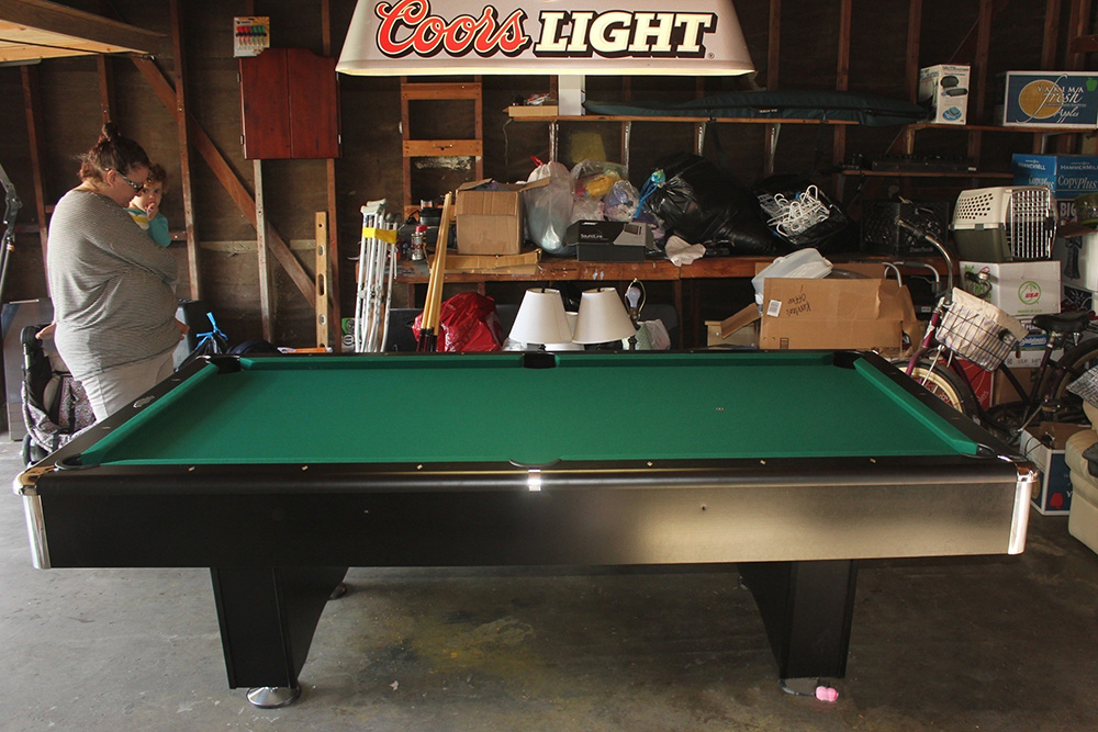 Garage Gameroom For Coors Fan Pool Table Service