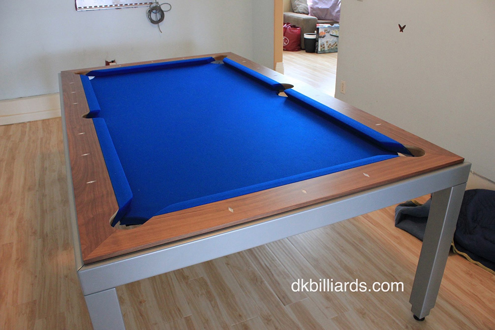 modern style pool table with dining top dk billiards service orange county ca. Black Bedroom Furniture Sets. Home Design Ideas