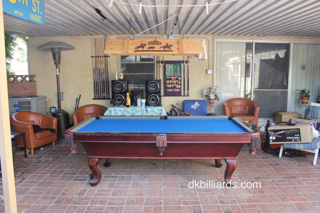 Dodger Blue On The Patio Pool Table Service Amp Billiard