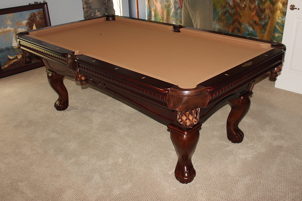 Replacing a non slate pool table dk billiards service for 1 inch slate pool table