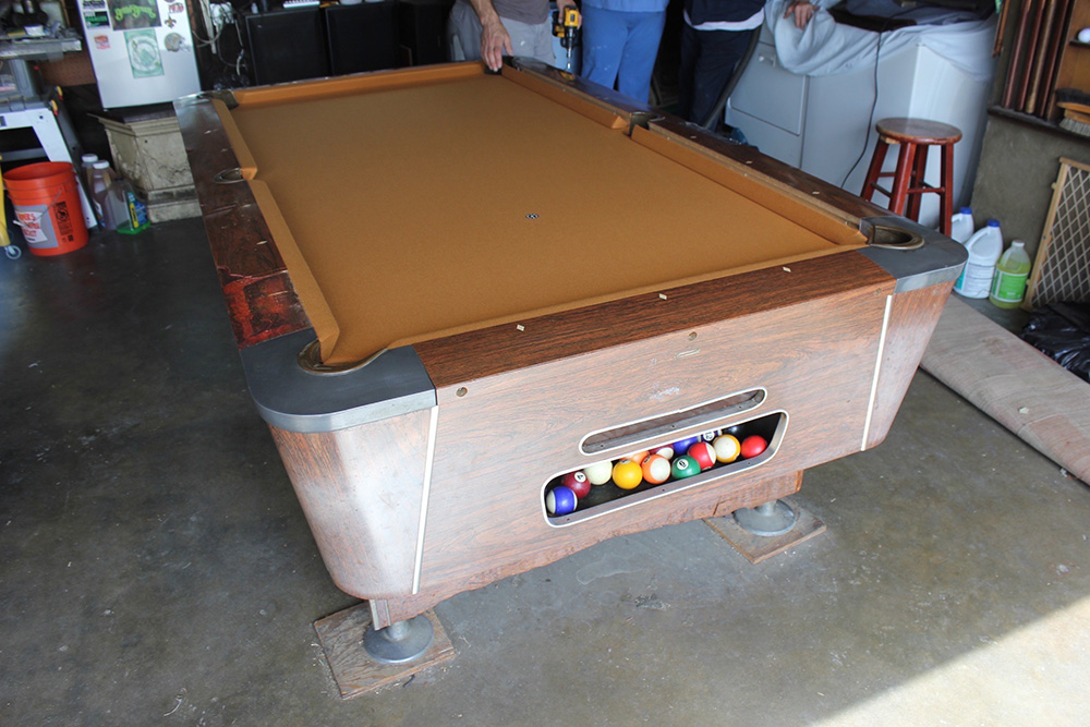 60 S Bar Table Goes Gold Pool Table Service Amp Billiard