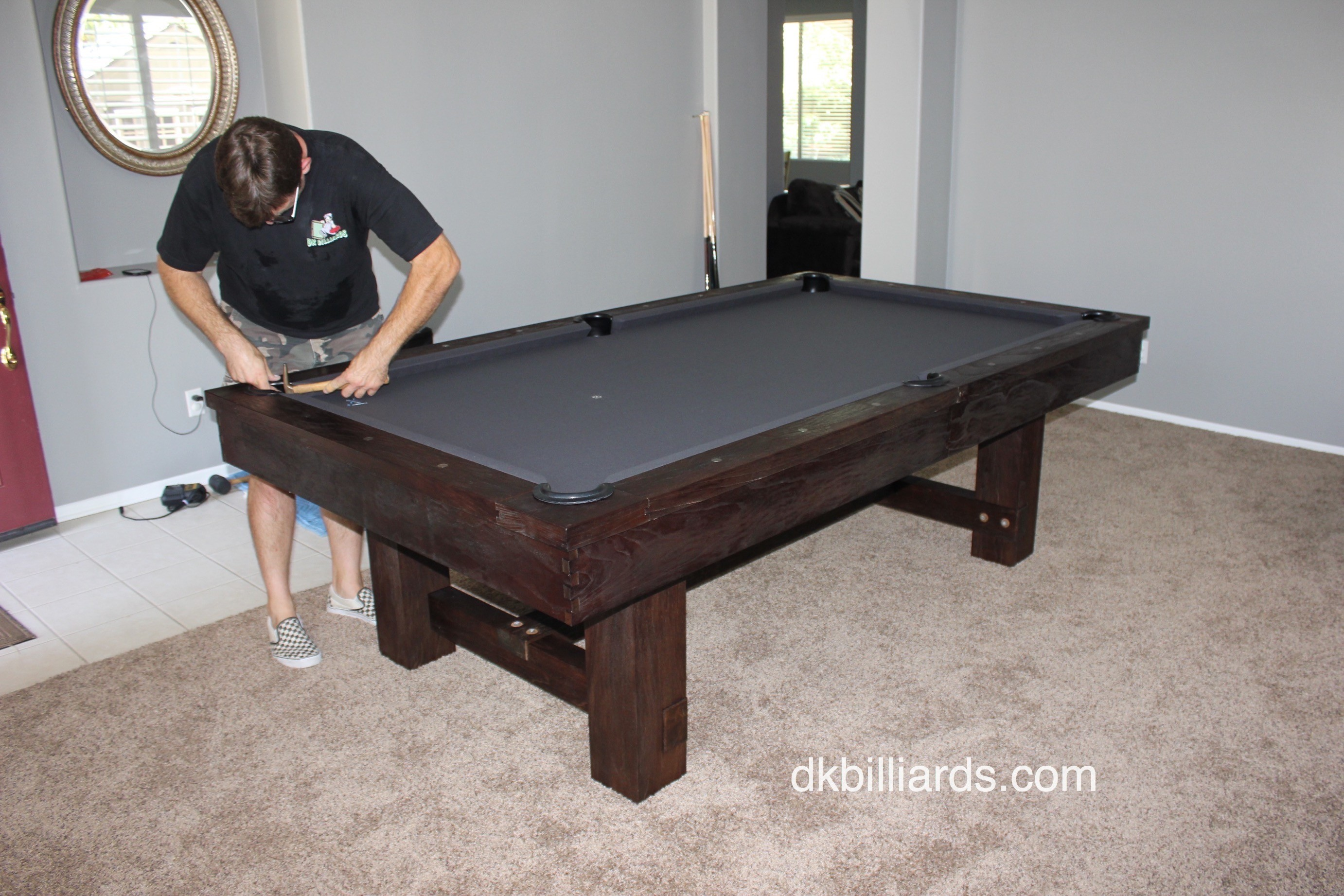 Pottery Barn Style Rustic Pool Table Dk Billiards