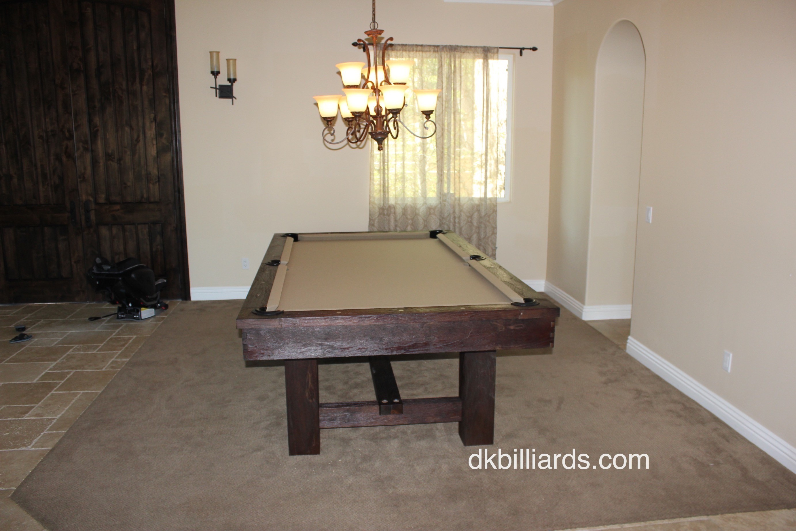 Rustic Pool Table in the Hills