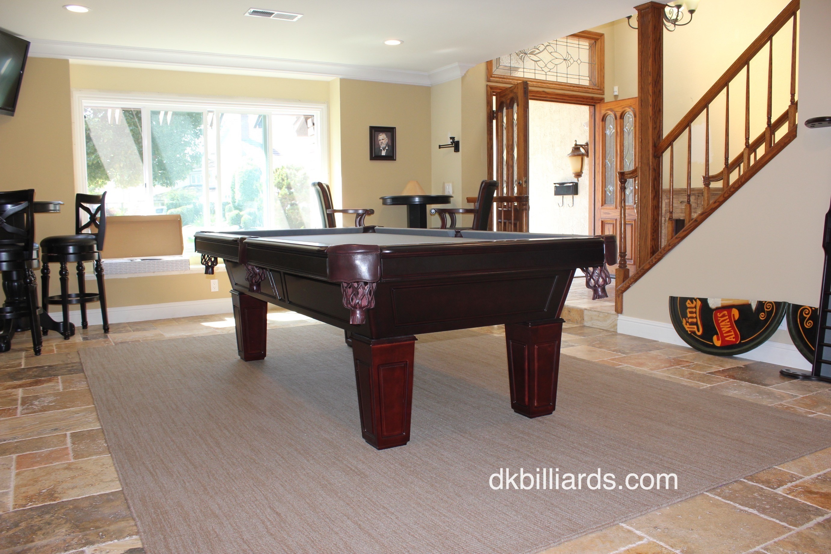 Placing A Pool Table On A Rug