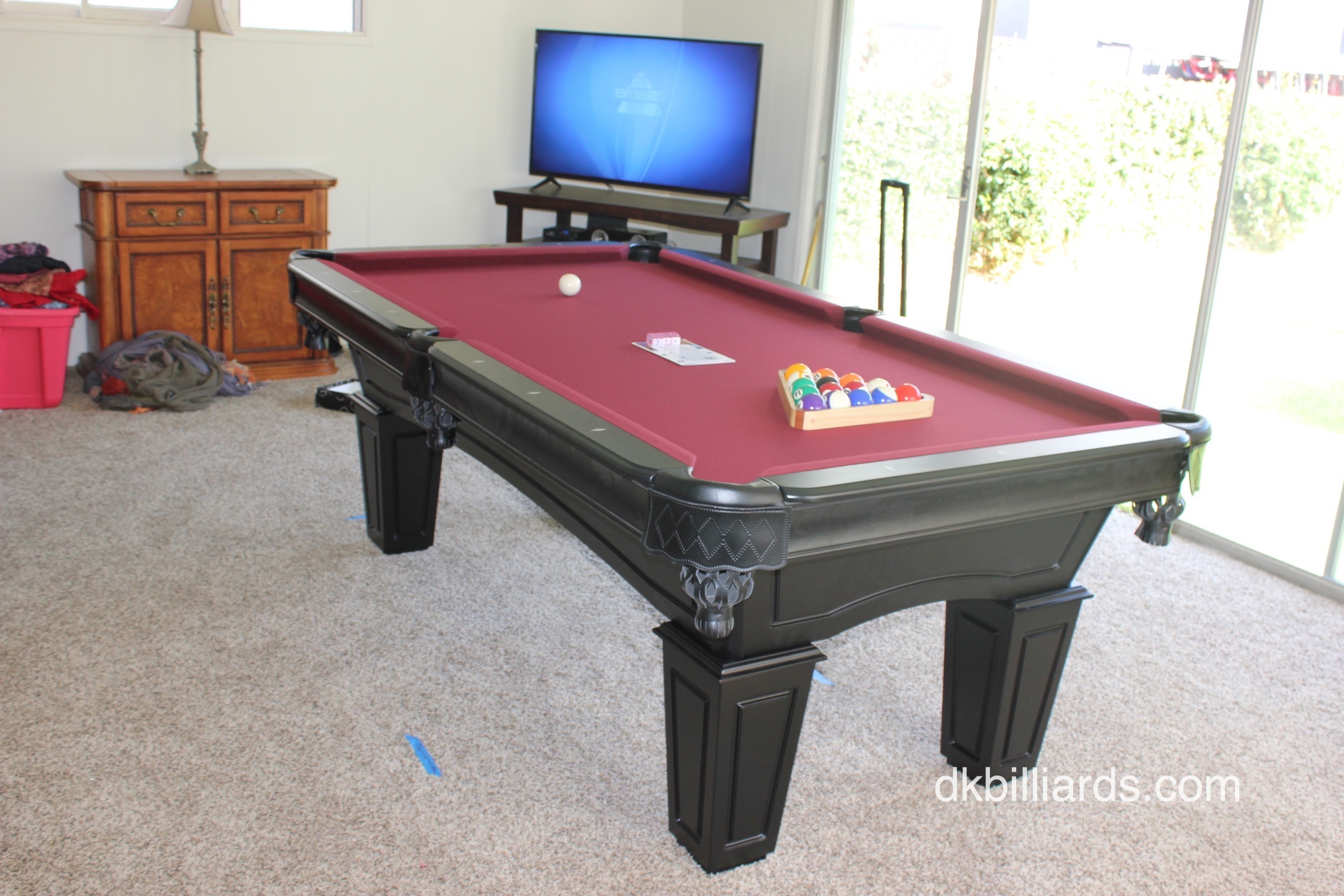 Let DK Billiards Help Find A Pool Table That Fits Your Budget And Style.  Our Showroom Has Many Different Models For You To Choose From.