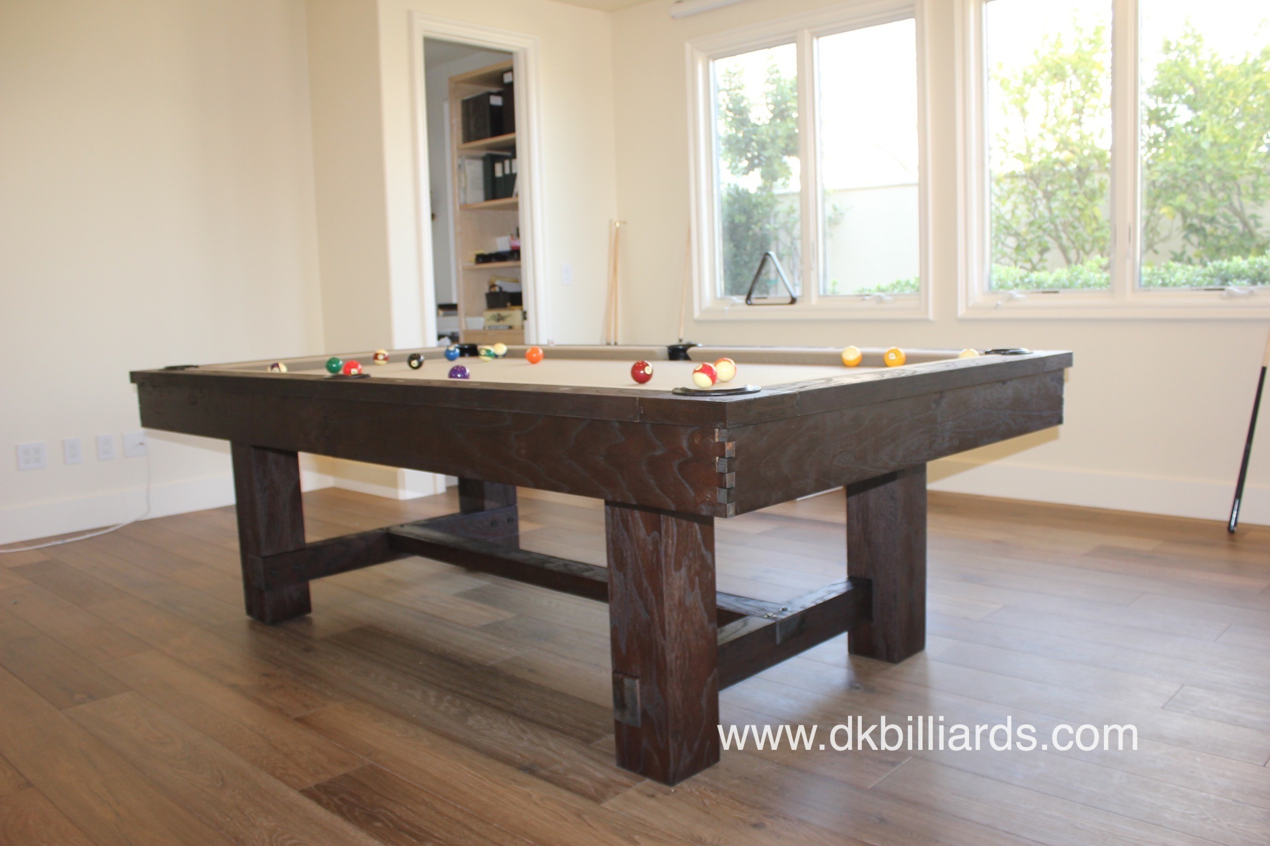 Rustic Pool Table Front And Center Pool Table Service