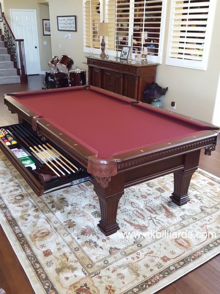 Hidden Drawer Pool Table