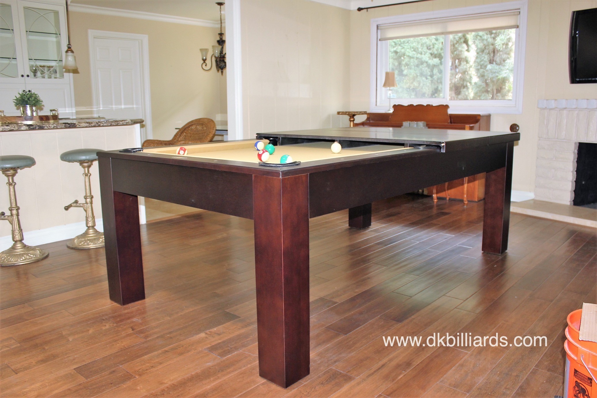 Sleek dining pool table combo pool table service - Snooker table dining table combination ...